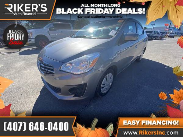Photo $99mo - 2017 Mitsubishi Mirage G4 G 4 G-4 ES - 100 Approved - $99 (Rikers Auto Financial)