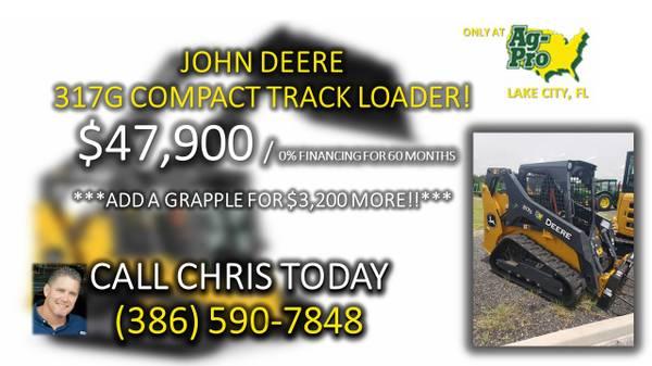 Photo JOHN DEERE 317G COMPACT TRACK LOADER - $47,900 (CALL CHRIS (386)590-7848)