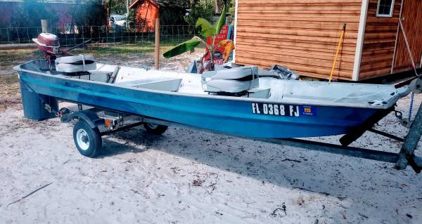 Photo Jon boat with trailer - $1,250 (Branford)