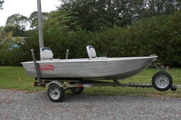Photo Landau v hull jon boat and trailer - $2,000 (CR 220 College DR.)