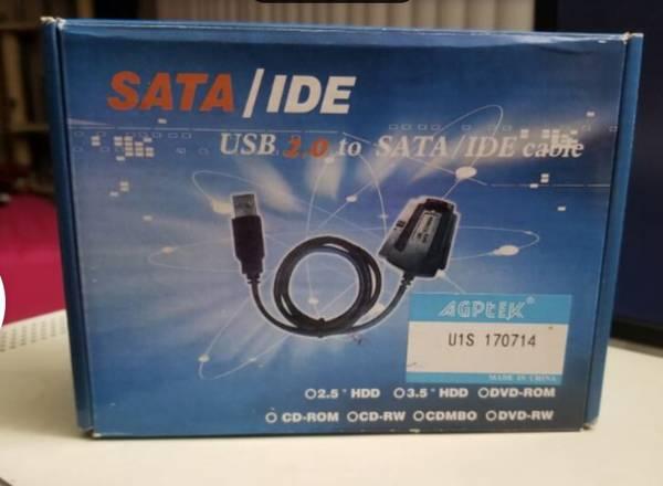 NIB USB 2.0 to IDE SATA S-ATA 2.5 3.5 HD HDD Converter Adapter Cable - $10