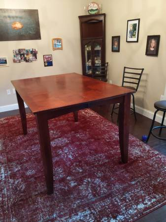 Photo Solid cherry wood formal dining table seats 8 - $400 (Lake city)