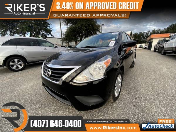 Photo $101mo - 2016 Nissan Versa 1.6 SV - 100 Approved - $101 (Rikers Auto Financial)