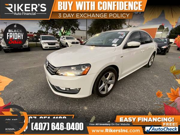 Photo $140mo - 2015 Volkswagen Passat 1.8T 1.8 T 1.8-T Limited Edition - 10 - $140 (Rikers Auto Financial)
