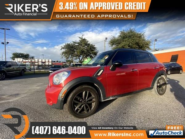 Photo $153mo - 2013 Mini Cooper S Countryman Base - 100 Approved - $153 (Rikers Auto Financial)