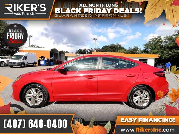 Photo $155mo - 2019 Hyundai Elantra SEL - 100 Approved - $155 (Rikers Auto Financial)
