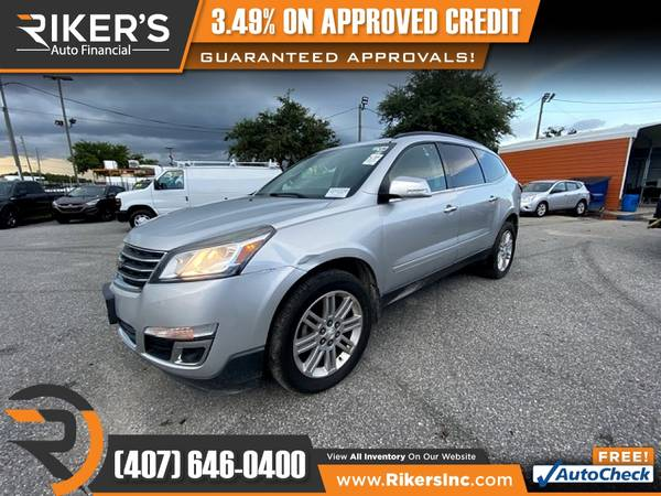 Photo $158mo - 2015 Chevrolet Traverse LT 1LT - 100 Approved - $158 (Rikers Auto Financial)