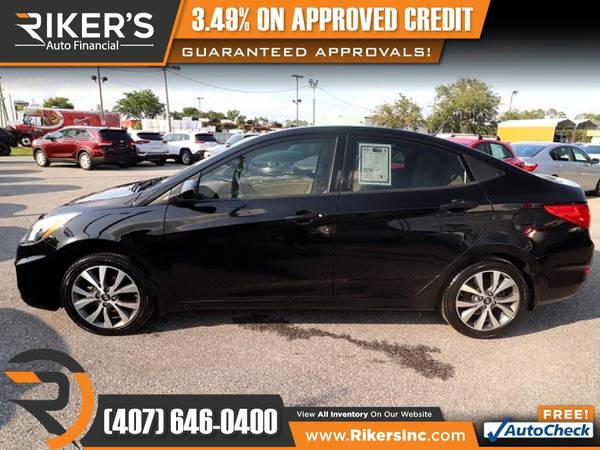 Photo $162mo - 2017 Hyundai Accent Value Edition - 100 Approved - $162 (Rikers Auto Financial)