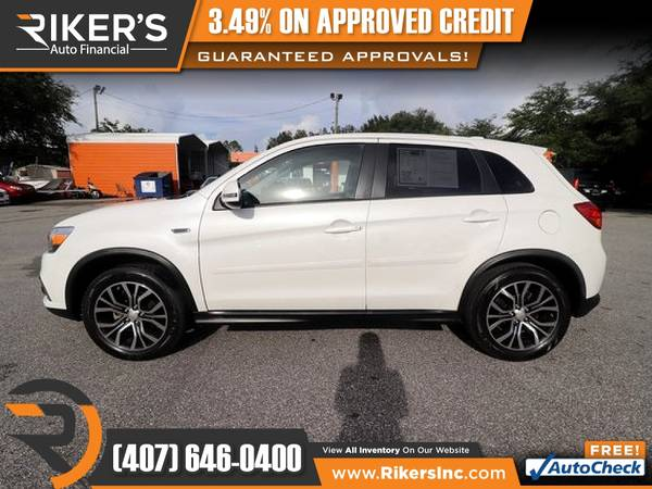 Photo $162mo - 2017 Mitsubishi Outlander Sport SE - 100 Approved - $162 (Rikers Auto Financial)