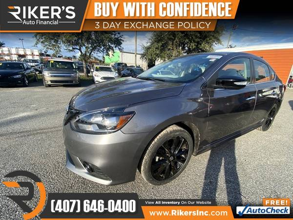 Photo $169mo - 2018 Nissan Sentra SR - 100 Approved - $169 (Rikers Auto Financial)