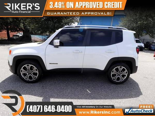 Photo $182mo - 2016 Jeep Renegade Limited - 100 Approved - $182 (Rikers Auto Financial)