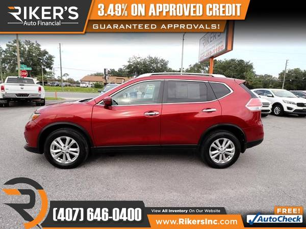 Photo $192mo - 2016 Nissan Rogue SV AWD - 100 Approved - $192 (Rikers Auto Financial)