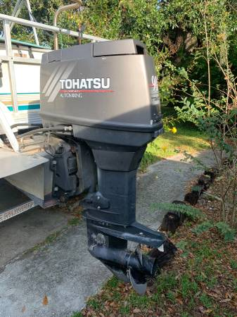 Photo 2000 90 HP Tohatsu Outboard with Prop and Controls - $2400 (Lakeland)