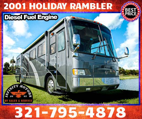 Photo 2001 HOLIDAY RAMBLER RV IMPERIAL 40RLS DIESEL PUSHER - $44,900 (COCOA)