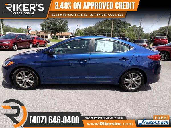 Photo 2017 Hyundai Elantra SE FOR ONLY $145 mo - $145 (Rikers Auto Financial)