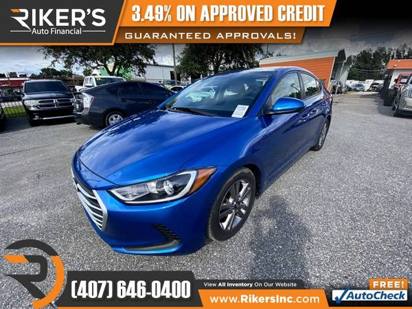 Photo 2017 Hyundai Elantra SE FOR ONLY $166 mo - $166 (Rikers Auto Financial)