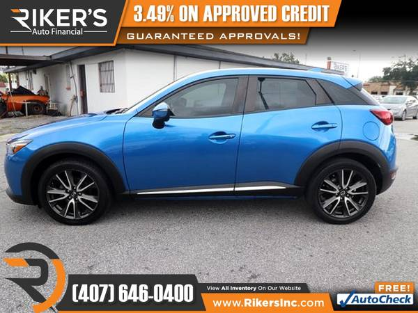 Photo 2017 Mazda CX3 CX 3 CX-3 Grand Touring FOR ONLY $232 mo - $232 (Rikers Auto Financial)