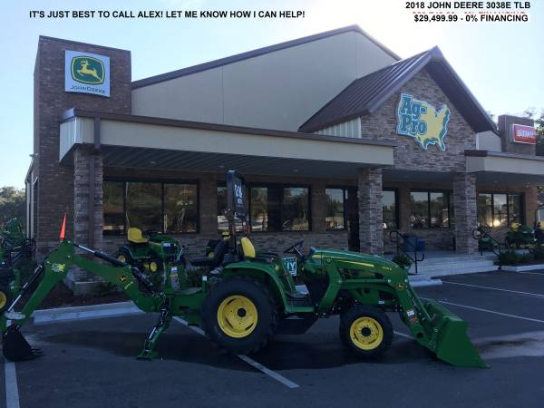 Photo 2018 JOHN DEERE 3038E TRACTOR  LOADER  BACKHOE - $29499 (CALL ALEX  904-466-1770)
