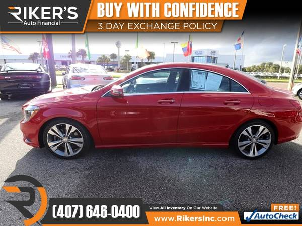 Photo $251mo - 2016 Mercedes-Benz CLA CLA 250 - 100 Approved - $251 (Rikers Auto Financial)