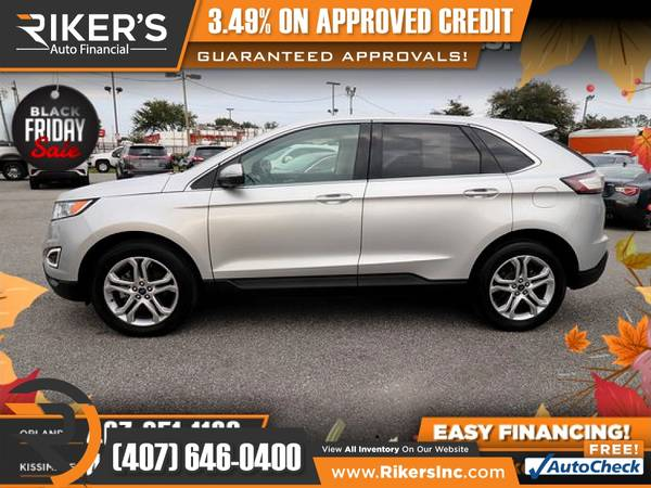 Photo $298mo - 2018 Ford Edge Titanium - 100 Approved - $298 (Rikers Auto Financial)