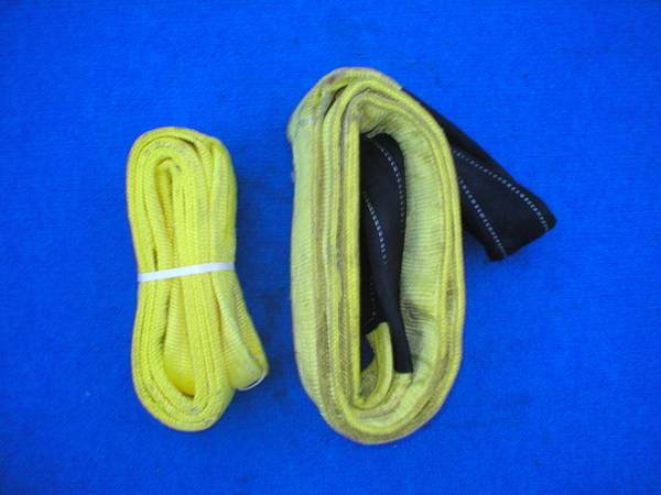 Photo 2 CERTIFED POLYESTER LIFTING SLINGS, 8FT BY 4 INCH, 8FT BY 6 INCH - $50 (AUBURNDALE)