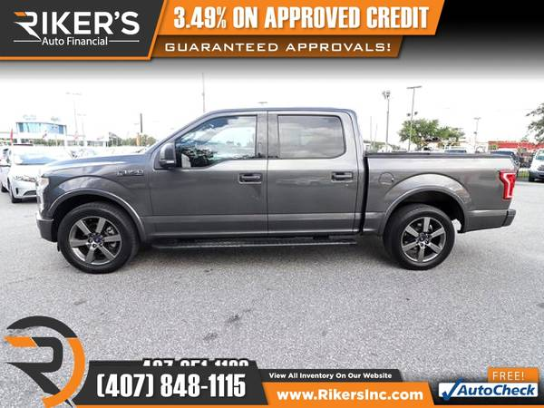 Photo $345mo - 2016 Ford F150 F 150 F-150 XLT - 100 Approved - $345 (Rikers Auto Financial)