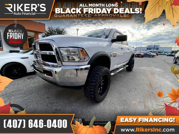 Photo $491mo - 2015 Ram 2500 SLTCrew Cab - 100 Approved - $491 (Rikers Auto Financial)
