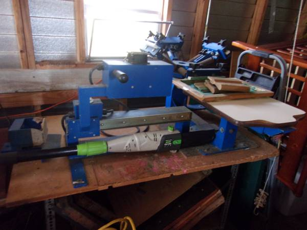 Photo 4 Color screen print station and flash drier - $400 (Indian Lake Estates)