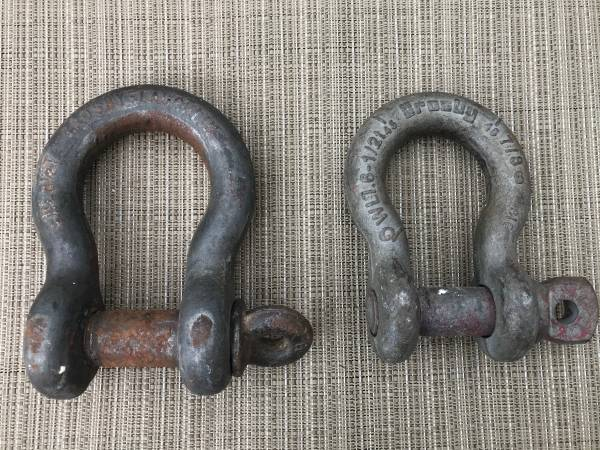 Photo Crosby Laughlin shackles clevis chain crane - $20 (Mulberry)