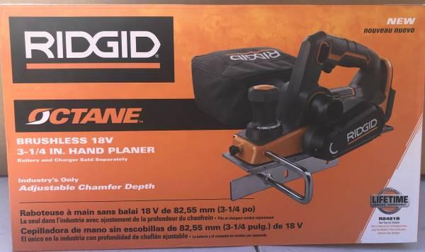 Photo Ridgid 18V OCTANE 3-14quot Hand Planer - $110 (North Lakeland)