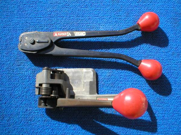 Photo SIGNODE TENSIONER, CRIMPER, PLASTIC STRAP BANDING TOOL WITH CLIPS - $70 (AUBURNDALE)