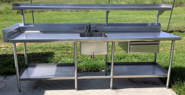 Photo Sink Stainless Steel Table - $625 (Lake Wales)