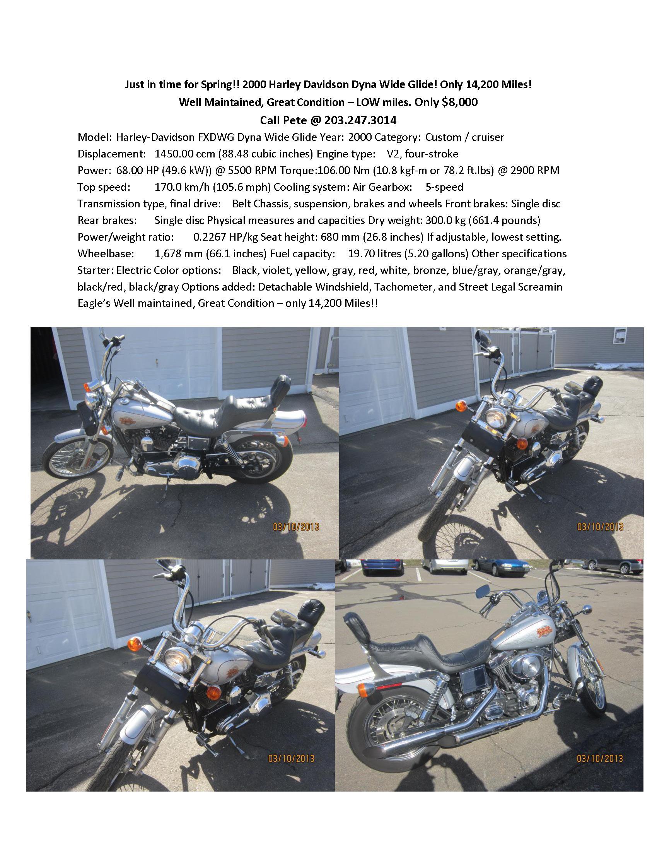 Photo 2000 Harley-Davidson DYNA WIDE GLIDE $139.15139.15