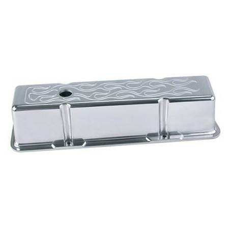 Photo mr gasket standard height 58-86 sbc v8 polished aluminum valve covers (East lake wales)