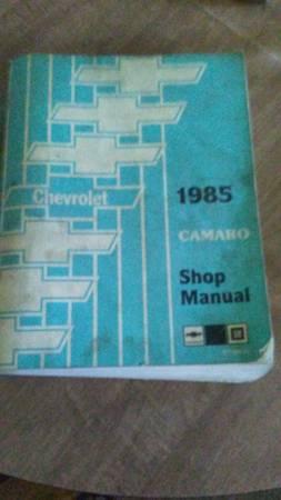 Photo 1985 Chevrolet Camaro Shop Repair Manual - $25 (new providence, PA)