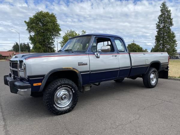 1992 Dodge Cummins Diesel 4x4 4wd Low Miles 1st Gen
