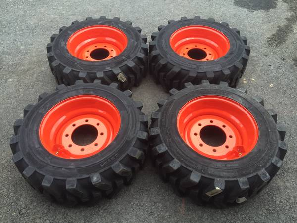 Photo 4-New 10-16.5 FOAM FILLED Skid steer tires and rims for Bobcat-10X16.5 - $1200 (Narvon)
