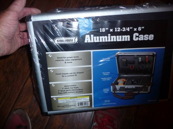 Photo Aluminum Tool Case-18quot X 12.75quot X 6quot-Brand New. - $10 (Lititz)