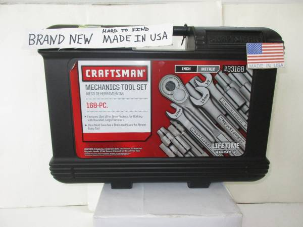 Photo Craftsman New Hard To Find Made In The USA 168 Piece Mechanic Tool Set - $179 (Lancaster)