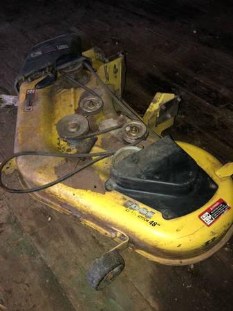 Photo John Deere L120 L130 48 lawn mower deck - $150 (Lancaster)