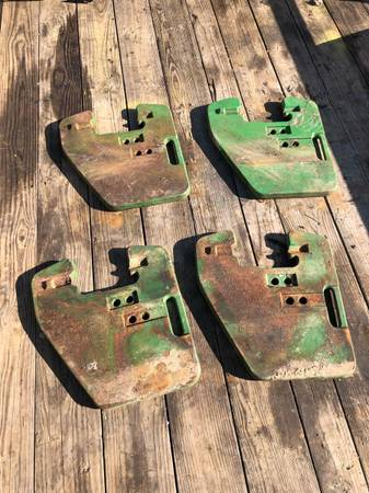 Photo John Deere farm tractor 4 100lb suitcase weights - $350 (Lancaster)