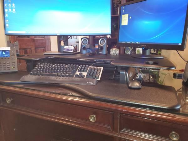 Photo Stand Up Desk - VariDesk - $300 (Lancaster)