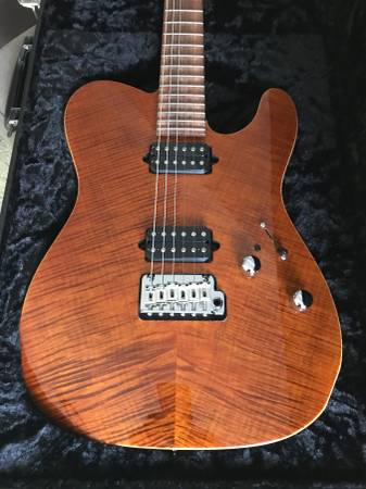 Photo Suhr Classic T tigers Eye Flame Maple top - $3300