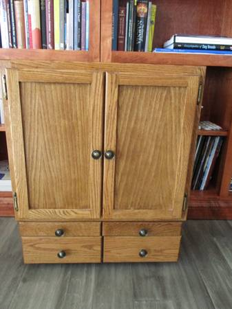 Photo Wood Doll Armoire Wardrobe - $50 (ancaster PA)