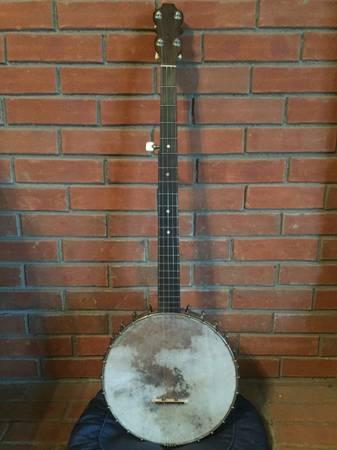 Photo Antique Lyon  Healy 5-String Open-Back Banjo - $290 (Mason)