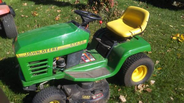 Photo John Deere STX38 Riding lawn mower (As Is) - $300 (Charlotte)