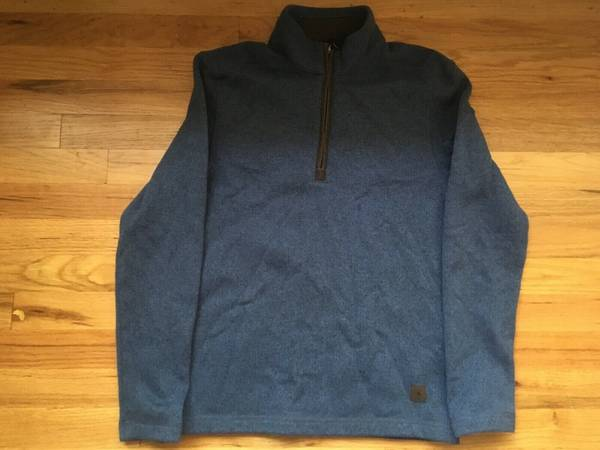 Photo PAIR - GH Bass  Co Mens Long Sleeve 14 Zip Sweaters Size Small - $15
