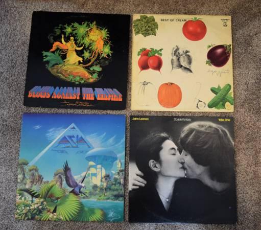 Photo Vintage 12quot LP Record Albums CREAM,JEFFERSON STARSHIP,JOHN LENNON,ASI - $25 (Okemos, MI)