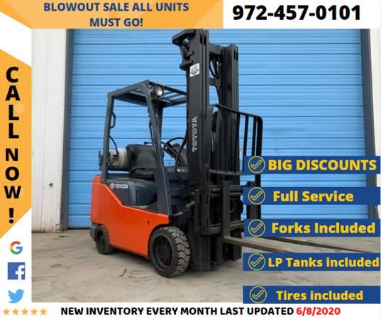 Photo 4,000lbs Capacity Cushion Forklift 2788 - $10,900 (ACE Equipment)