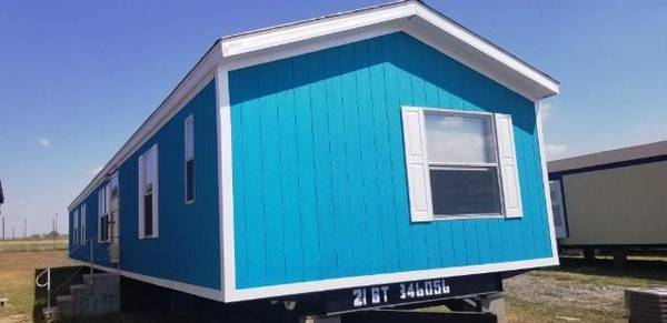 Photo Baby Blue 3 bed 2 bath single wide used mobile home for sale (Deliver to your land anywhere in TEXAS)